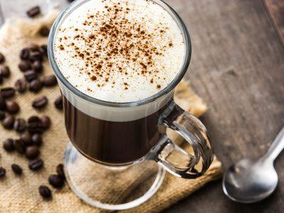 Irish coffee in Irish coffee mug