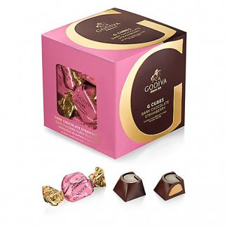 Otto's Granary GODIVA 10pc. G Cube Dark Strawberry