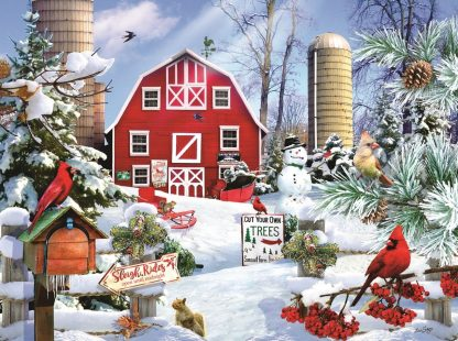 Otto's Granary A Snowy Day on the Farm - 1000pc. by SunsOut Jigsaw Puzzles