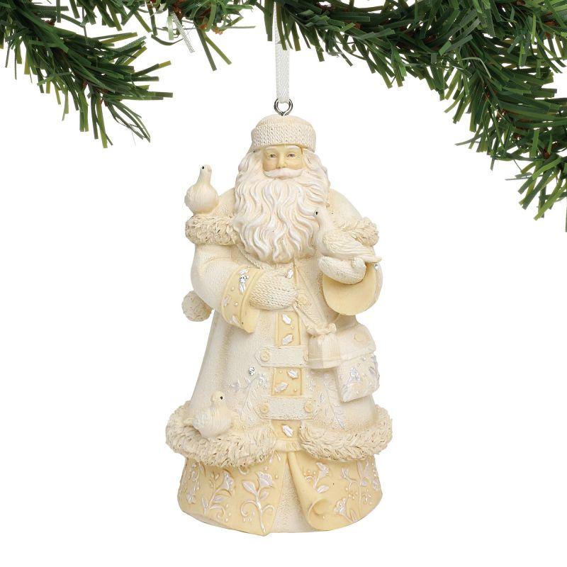 Peace Christmas Ornament.White Santa Peace On Earth Ornament By Heart Of Christmas 6001395