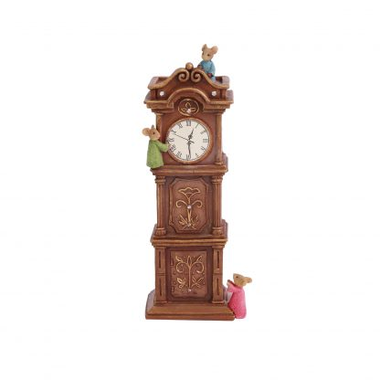 Otto's Granary Hickory Dickory Dock Mice Figurine by Tails with Heart Mother Goose Collection