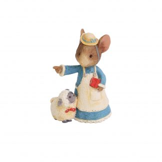 Otto's Granary Mary had a Little Lamb Mouse Figurine by Tails with Heart Mother Goose Collection
