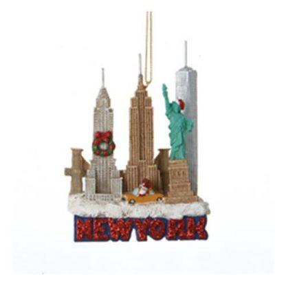 Otto's Granary New York Skyline Resin Ornament