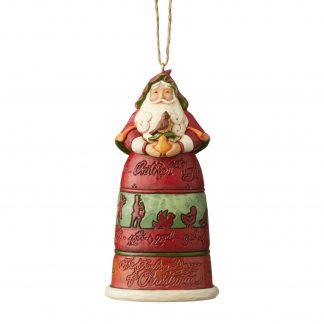 Otto's Granary 12 Days Of Christmas Santa Ornament by Jim Shore