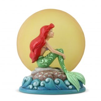 Otto's Granary Ariel Sitting on Rock by Moon Figurine by Jim Shore