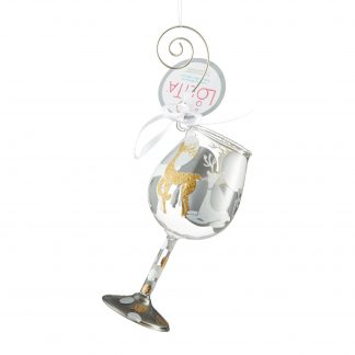 Otto's Granary Mini Wine Visions of Reindeer Ornament by Lolita