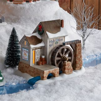 Otto's Granary White Rose Mill by Jim Shore Village & Dept 56