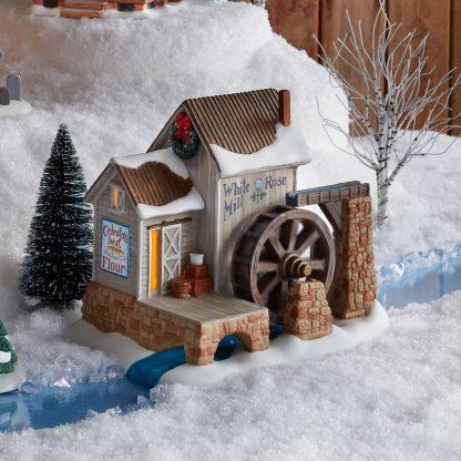Otto's Granary White Rose Mill by Jim Shore Village & Dept 56