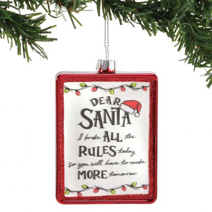 Otto's Granary Dear Santa Rules Ornament by Izzy & Oliver
