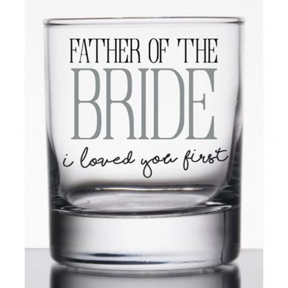 Otto's Granary Father of Bride Rocks Glass by Our Name Is Mud