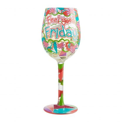 Otto's Granary Feel Good Friday Wine Glass by Lolita