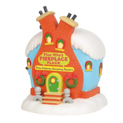 Otto's Granary Lighted Flue Who's Fireplace Place by Dept 56