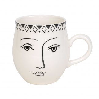 Otto's Granary Pen & Ink Female Face Mug by Izzy & Oliver