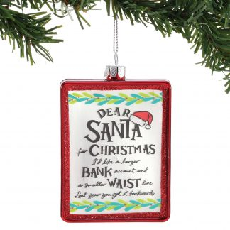 Otto's Granary Dear Santa Larger Bank Ornament by Izzy & Oliver