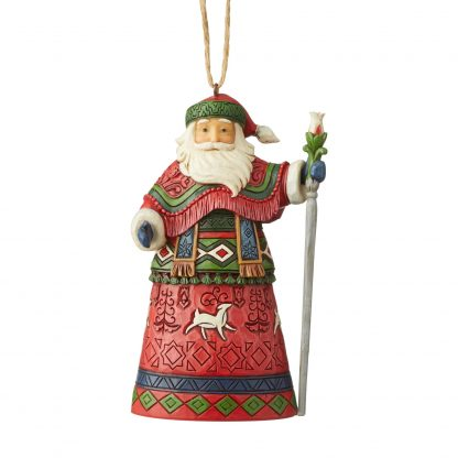 Otto's Granary Lapland Santa with Staff Ornament by Jim Shore