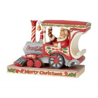 Otto's Granary Santa In Coca-Cola Engine by Jim Shore