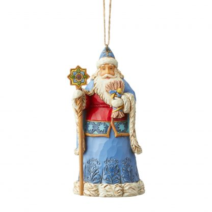 Otto's Granary Ukraine Santa Ornament by Jim Shore