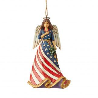 Otto's Granary Patriotic Angel Ornament by Jim Shore