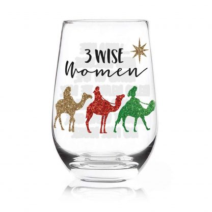 Otto's Granary 3 Wise Women Stemless Glass by Our Name Is Mud