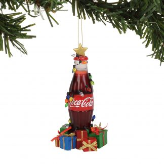 Otto's Granary Coke Bottle Musical Ornament by Dept 56