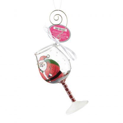Otto's Granary Mini Wine Stuck Santa Ornament by Lolita