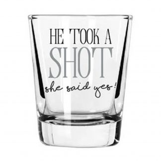 Otto's Granary Wedding Shot Glass by Our Name Is Mud
