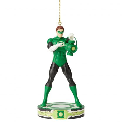 Otto's Granary Green Lantern Silver Age Ornament by Jim Shore