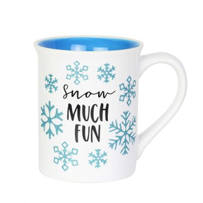 Otto's Granary Glitter Snowflake 16 oz Mug by Our Name Is Mud
