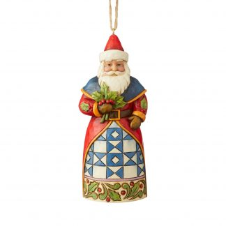 Otto's Granary Santa with Holly Ornament by Jim Shore