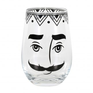 Otto's Granary Pen & Ink Male Face Glass by Izzy & Oliver