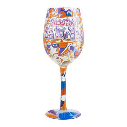 Otto's Granary Saturday Shoutout Wine Glass by Lolita