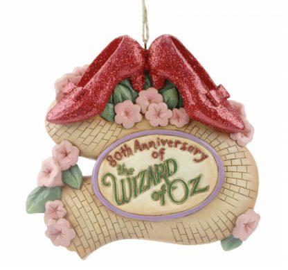 Otto's Granary Wizard of Oz 80th Ruby Slippers Ornament by Jim Shore