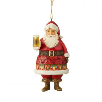 Otto's Granary Craft Beer Santa Ornament by Jim Shore