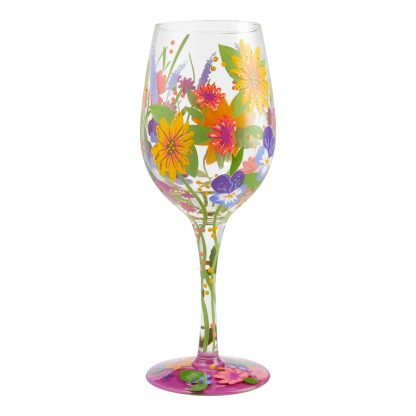 Otto's Granary Wine in the Garden 15oz. Wine Glass by Lolita