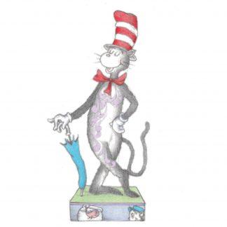 Otto's Granary Cat In The Hat holding Umbrella Figurine by Jim Shore