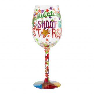 Otto's Granary Congratulations, Shoot for the Stars 15oz. Wine Glass by Lolita