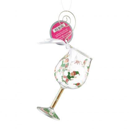 Mini Wine Tipsy Elf Ornament by Lolita