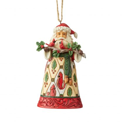 Otto's Granary Santa with Cardinals Ornament by Jim Shore Heartwood Creek