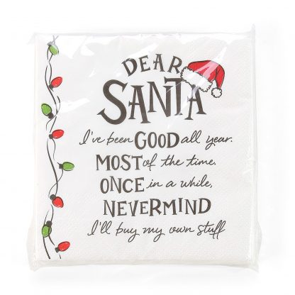 Otto's Granary Dear Santa I've Been Napkins Entertainment by Izzy and Oliver