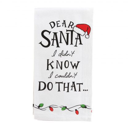 Otto's Granary Dear Santa Didn't Know That Wine is Towel Entertainment by Izzy and Oliver
