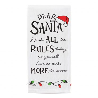 Otto's Granary Dear Santa All Rule Wine is Towel Entertainment by Izzy and Oliver