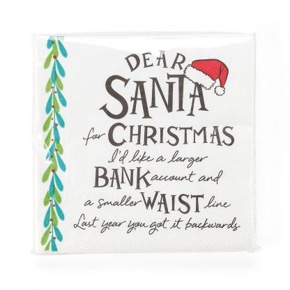 Otto's Granary Dear Santa Larger Napkins Entertainment by Izzy and Oliver