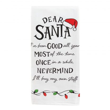 Otto's Granary Dear Santa I've Been Wine is Towel Entertainment by Izzy and Oliver