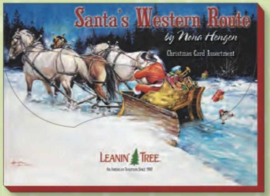 Leanin Tree Christmas Cards.Santas Western Route Christmas Cards By Leanin Tree Ast90283
