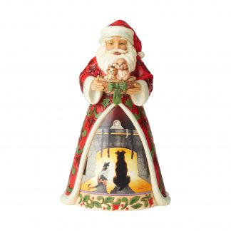 Otto's Granary Santa Holding Pets Saturday Evening Post Figurine by Jim Shore