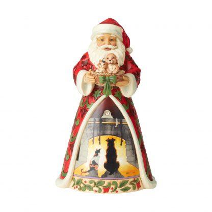 Otto's Granary Santa Holding Pets Saturday Evening Post Figurine by Jim Shore
