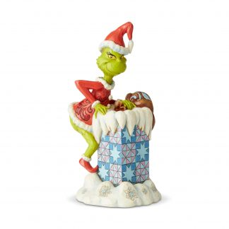 Otto's Granary Grinch Climbing in Chimney - Grinch by Department 56